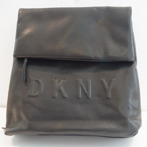 805107a5c21f Dkny Bags - DKNY Medium Tilly Black faux leather backpack